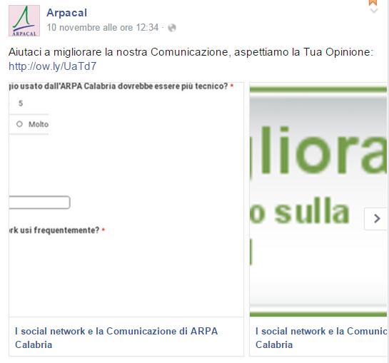 ArpaCalabria, consigli (non richiesti) per utilizzare meglio i social network