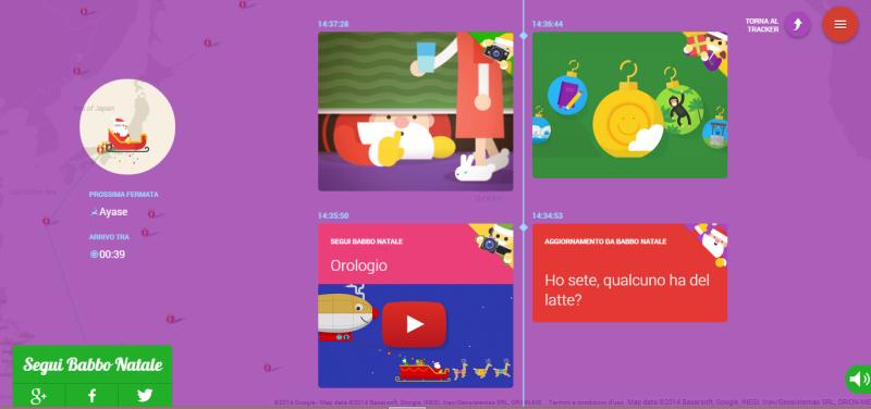 SantaTracker: segui Babbo Natale con Google